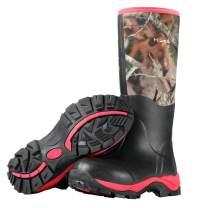 Hisea Women's Hunting Boots Insulated Rain Boots Waterproof Rubber Boots Neoprene Muck Outdoor Boots