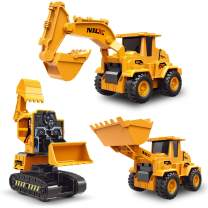 3 Pack Transforming Construction Toys for 3 4 5 Year Old Boys and Girls with Excavator and Bulldozer Vehicles for Kid's Birthday Easter Best Gifts