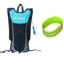 GRESATEK Hydration Pack Backpack with 2L/70oz Water Bladder Ultralight Rucksack Bladder Bag for Walking Cycling Hiking Camping Skiing Free Reflective Bands for Your Safety