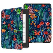 Fintie Slimshell Case for All-new Kindle Paperwhite (10th Generation, 2018 Release) - Premium Lightweight PU Leather Cover with Auto Sleep/Wake for Amazon Kindle Paperwhite E-reader, Jungle Night
