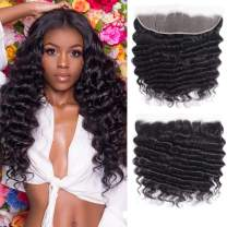 Beauty Forever Hair Malaysian Virgin Hair Loose Deep Wave Ear to Ear 13x4 Lace Frontal Closure Natural Color (14, 13x4 Frontal)