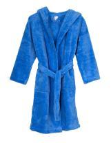 TowelSelections Girls Robe, Kids Plush Hooded Fleece Bathrobe, Made in Turkey