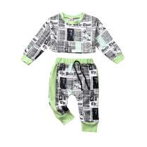 Toddler Baby Girl Long Sleeve Crop Top Pants Outfit Cute Summer Clothes Set 2Pcs