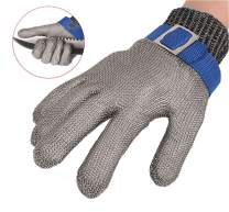 ThreeH Cut Resistant Gloves Stainless Steel 316L Wire Mesh Butcher Gloves Level 5 Protection Working Glove GL09 XXXL(One piece)