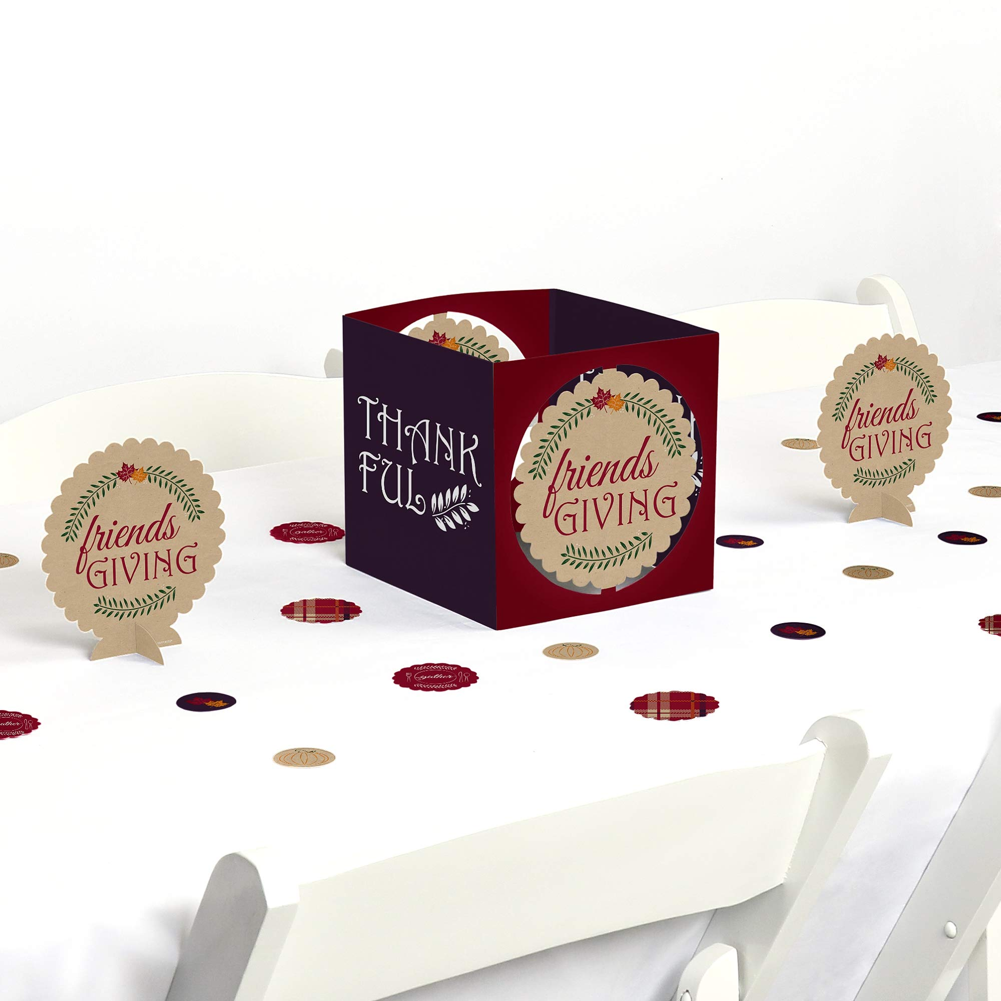 Big Dot of Happiness Friends Thanksgiving Feast - Friendsgiving Party Centerpiece and Table Decoration Kit