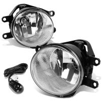 Replacement for Corolla/Highlander/Tundra / RX350 Pair of Bumper Driving Fog Lights+Switch (Chrome Lens)