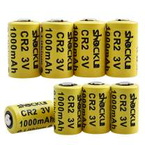 Shockli CR2 3V Lithium Battery 1000mAh, 8 Pack Photo Batteries with PTC Protection (Carry Box Included) -Ideal for Instax Mini 50 Mini 50S Mini 55, Range Finder