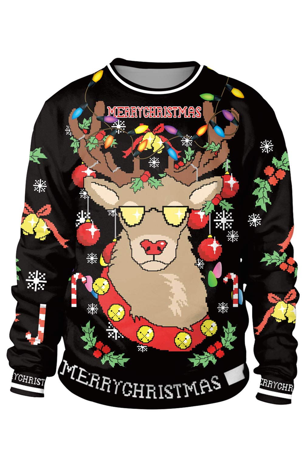 Timemory Unisex Ugly Christmas Sweatshirt Funny Design Pullover Sweater