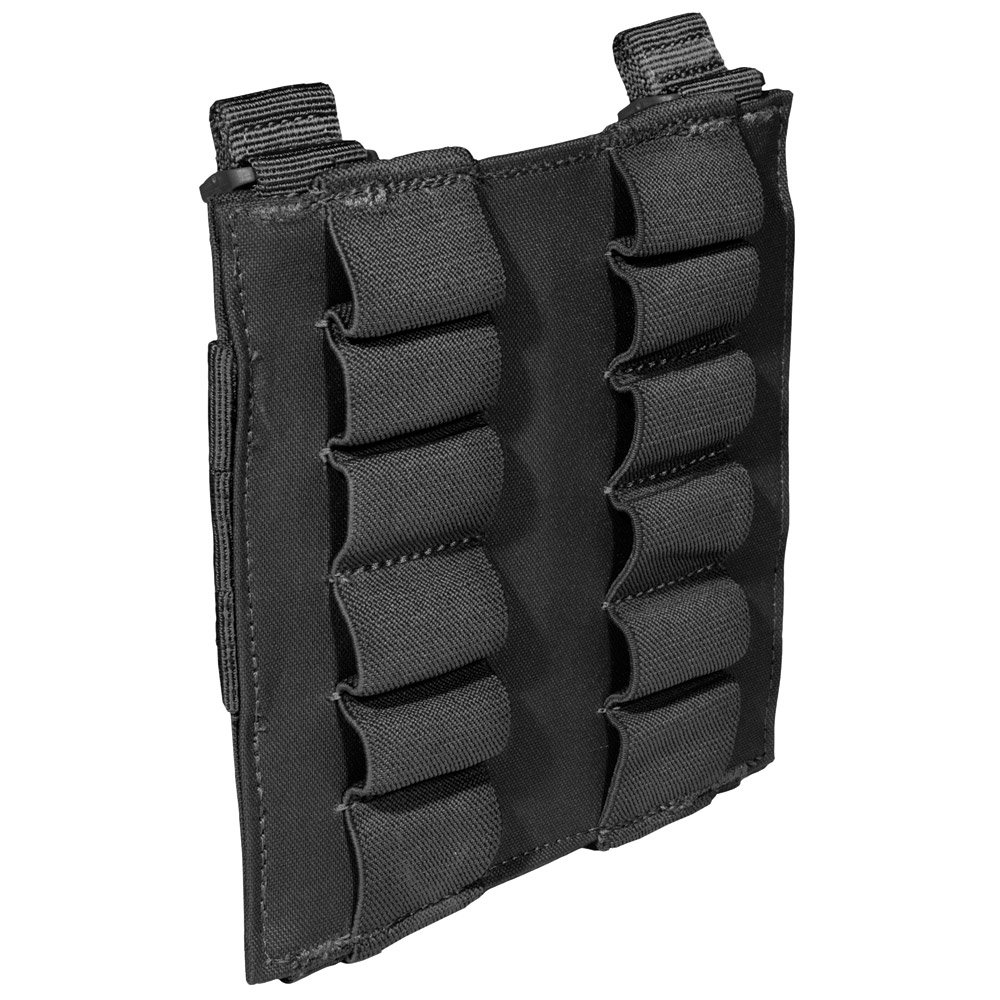 5.11 Tactical 12-Round Shotgun Pouch, Waterproof Coating, Secure Elastic Band Slots, Style 56165