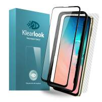 Galaxy S10e Screen Protector Tempered Glass Klearlook Full Coverage Case Friendly HD Glass Protector for Galaxy S10e [1 Front Glass+1 Back Skin Film] [with Easy Install Tool]