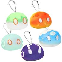 """5 Pack Great Gift Set - Augwindy 3.9"""" Slime Monster Plush Toy Plushie Stuffed Doll Soft Pillow Cosplay Props for Fans (5Pcs, 3.9"""" Keychain)"""