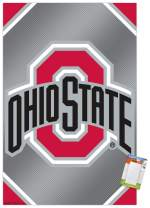 "Trends International Poster Clip Collegiate - The Ohio State University Buckeyes - Logo, 22.375"" x 34"", Poster & Clip Bundle"