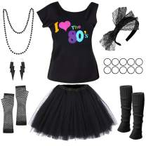 PAXCOO 80s Costumes for Women, 80s Accessories for Women