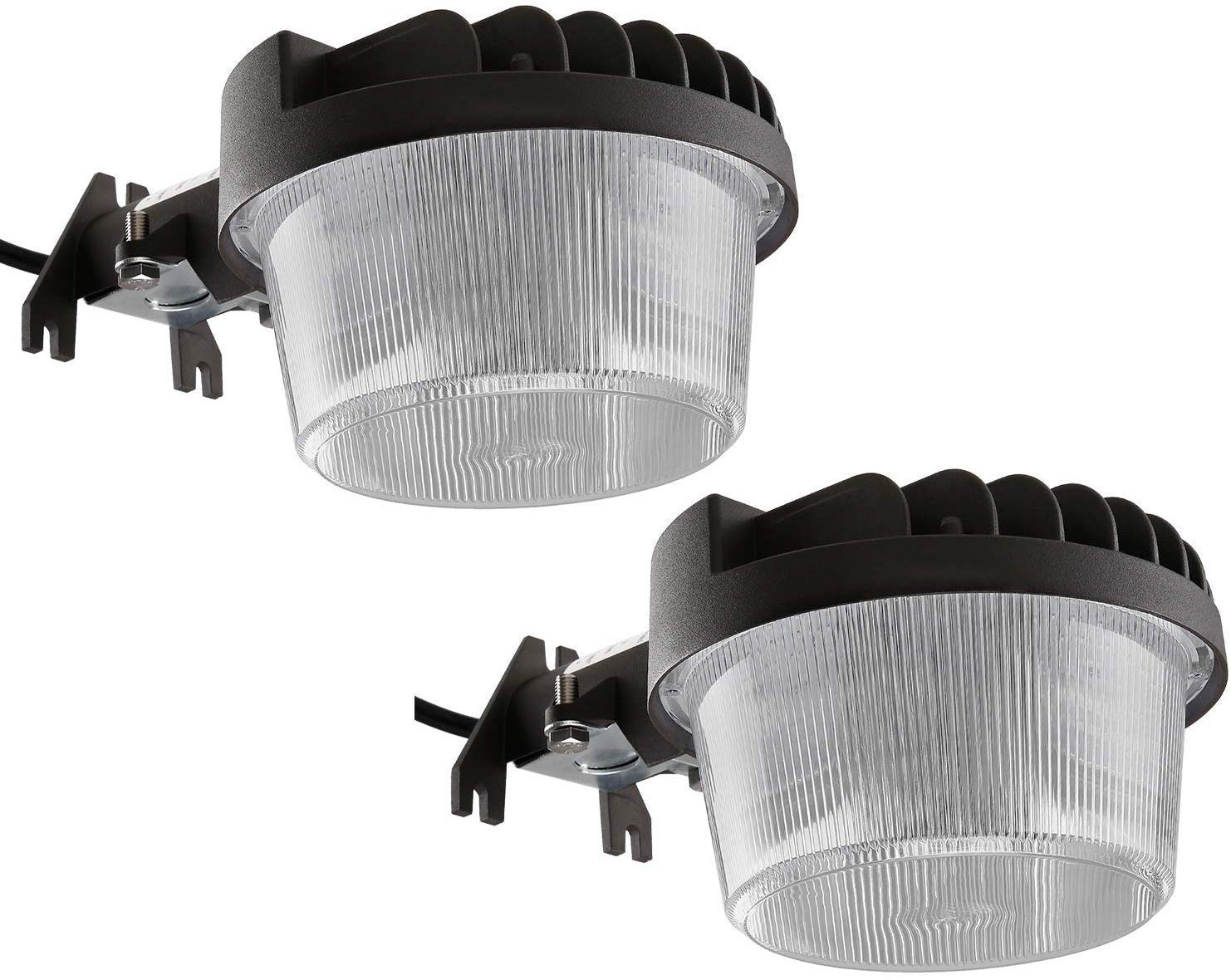 TORCHSTAR LED Outdoor Barn Light Dusk-to-Dawn Security Area Lights with Photocell, Wet Location Yard Floodlight Fixture, 5000K Daylight, 100-277V, ETL-Listed, 5-Year Warranty, Pack of 2