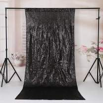 TRLYC 4FT7FT Black Sequin Backdrop for Christmas Day
