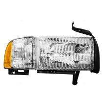 Passengers Headlight Headlamp with Corner Lamp Replacement for Dodge Pickup Truck 55076748AD