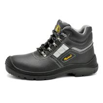 Work Safety Boots for Men & Women,Black Waterproof Steel Toe Work Boots Leather Work Safety Shoes for Industrial Construction