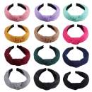 SIQUK 12 Pieces Headband Knot Turban Headbands Wide Plain Headband Hair Accessories for Women and Girls, 12 Colors