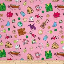 Riley Blake Designs Riley Blake Girl Scouts Main Pink Fabric By The Yard