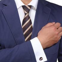 Y&G Men's Fashion Multicolored Stripes Neckwear Formal Wear GiftMens Silk Tie Cufflinks 2PT