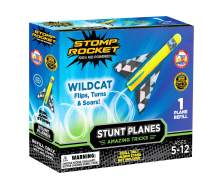 Stomp Rocket Stunt Planes Refill Pack, 1 Wildcat Plane, for Boys and Girls - Outdoor Rocket Gift for Ages 5 (6, 7, 8) and up