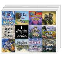 Spanish How Great is Our God Stickers (10 Stickers) - Great Stocking Stuffer for Men and Women