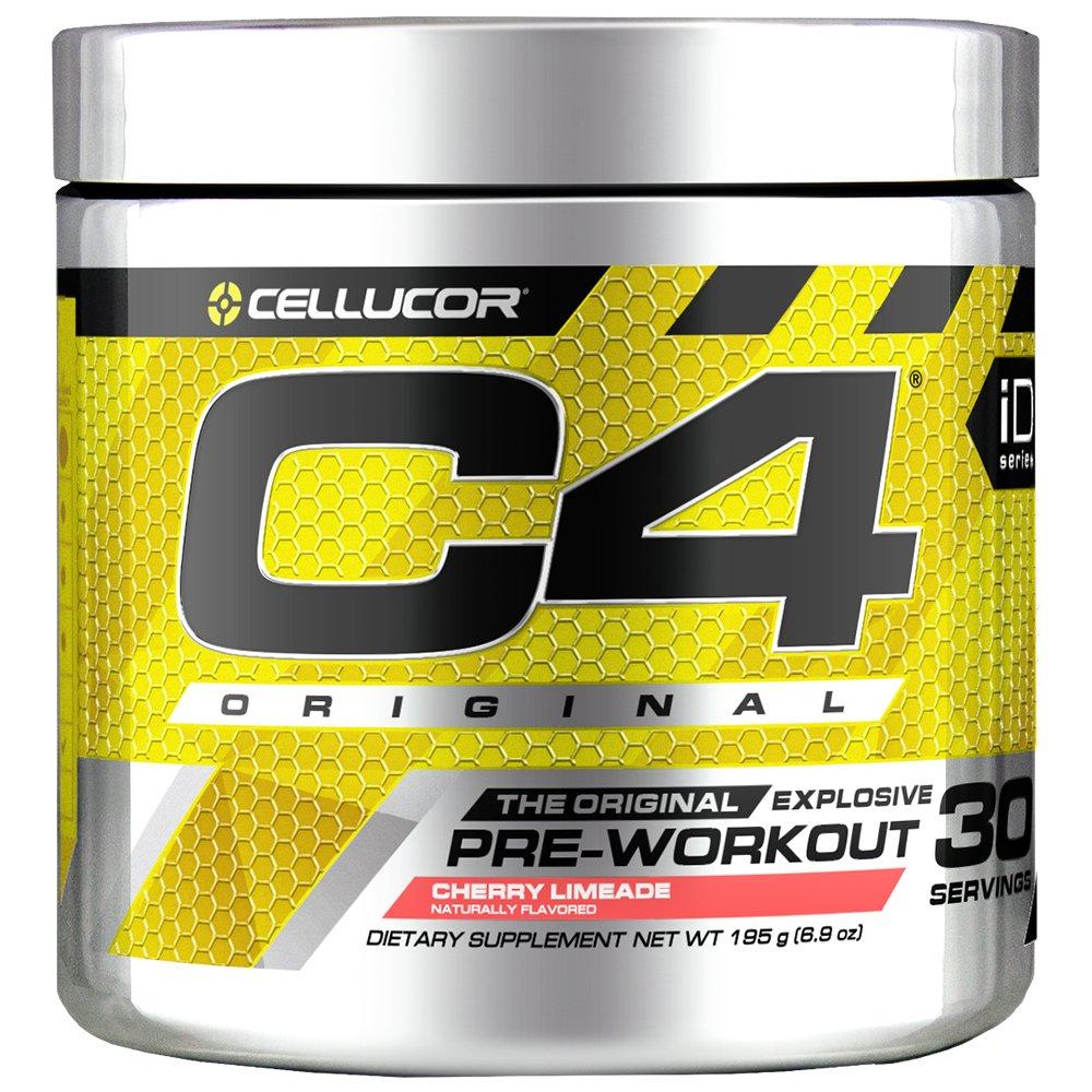 C4 Original Pre Workout Powder Cherry Limeade  Vitamin C for Immune Support   Sugar Free Preworkout Energy for Men & Women   150mg Caffeine + Beta Alanine + Creatine   30 Servings