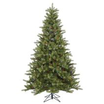 """Vickerman King Spruce Artificial Christmas Tree with 700 Multi-Colored Lights, 7.5' x 56"""""""