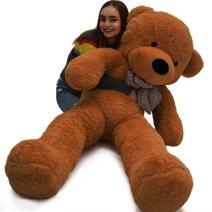 Vercart 4 Foot 47 inch Dark Brown Giant Huge Cuddly Stuffed Animals Plush Teddy Bear Toy Doll
