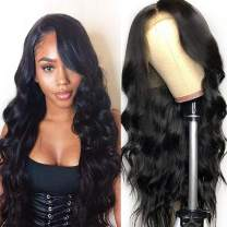 """Lemoda Brazilian 360 Lace Frontal Body Wave Hair Wig 150% Density Pre Plucked Virgin Human Hair Wigs With Baby Hair Bleached Knots Nature Color for Black Women (10"""")"""