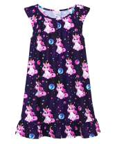 JESKIDS Girls Nightgowns Unicorn Flamingo Flutter Sleeve Pajamas Dress