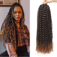 "UNA 7 packs Passion Twist Hair Water Wave Crochet Braids for Passion Twist Crochet Hair Passion Twist Braiding Hair (14""7packs, T30)"