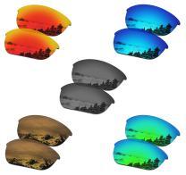 SmartVLT Set of 5 Men's Replacement Lenses for Oakley Half Jacket 2.0 Sunglass Combo Pack S02