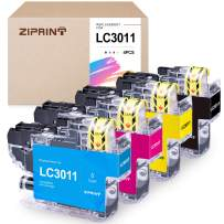 ZIPRINT Compatible Ink Cartridge Replacement for Brother LC3011 LC-3011 for Brother MFC-J497DW MFC-J895DW MFC-J491DW MFC-J690DW Printer (1 Black 1 Cyan 1 Magenta 1 Yellow, 4-Pack)