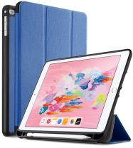 iPad 9.7 2018 Case with Built-in Apple Pencil Holder, Exact Design Ultra Lightweight Slim-Shell Stand Cover Case with Auto Wake/Sleep Function for iPad 9.7 inch Tablet,Blue