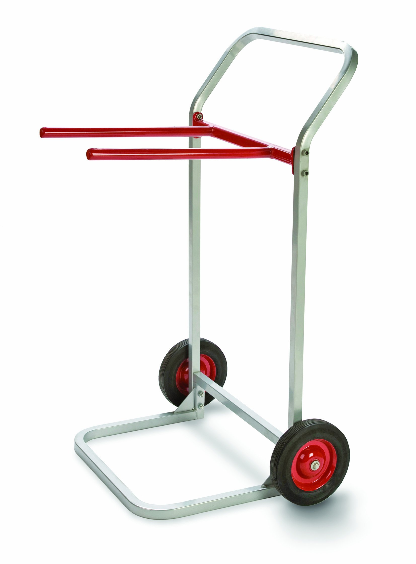 """Raymond 750 Folding Chair Dolly with 8"""" x 1-3/4"""" Skid-Resistant Rubber Wheels, 180 lbs Capacity, 27-3/4"""" Width x 43"""" Height x 22-1/2"""" Depth"""