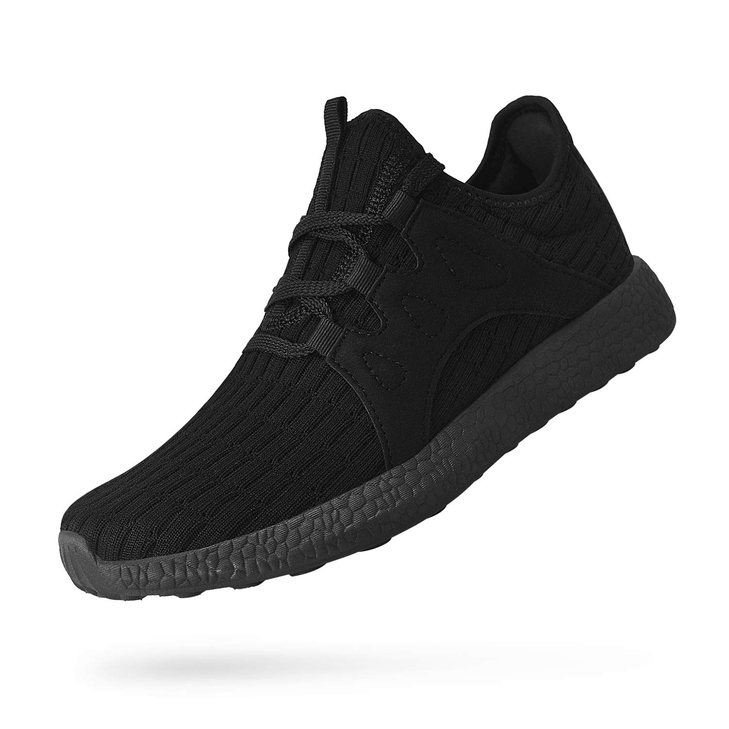 Troadlop Womens Running Shoes Non Slip Tennis Athletic Air Knitted Lightweight Breathable Mesh Sneakers Gym Sports Casual Walking Shoes,Black 11.5 US M…