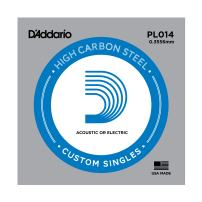 D'Addario PL014 Plain Steel Guitar Single String, .014