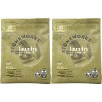 Grab Green Stoneworks Laundry Detergent Pods, Powered by Naturally-Derived Plant & Mineral-Based Powder Pods, Olive Leaf, 50 Count (Pack of 2) Loads,EPA Safer Choice Certified