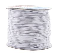 Mandala Crafts 1mm Elastic Cord Stretchy String for Bracelets, Necklaces, Jewelry Making, Beading, Masks; 109 Yards White
