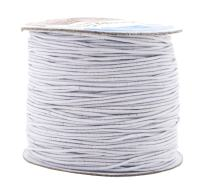 Mandala Crafts 1mm Elastic Cord Stretchy String for Bracelets, Necklaces, Jewelry Making, Beading, Masks; 109 Yards White