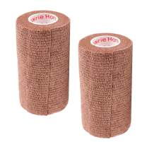 Vet Wrap Rap Tape (Assorted Colors, Paw Prints, Patterns) (2 Pack) (2, 3, or 4 Inch x 15 feet) Self Adhesive Adherent Adhering Cohesive Flex Self Stick Bandage Grip Roll Dog Cat Pet Horse
