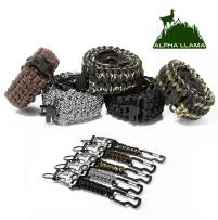 Alpha Llama Gun Sling 550 Paracord 2 Point Adjustable Wide Strap for Rifles, Shotguns and crossbows. Multiple Color Options, Perfect for Camping, Hunting, Outdoor Leisure and Recreation with Keychain