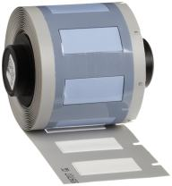 "Brady PSPT-250-1-WT TLS 2200 And TLS PC Link PermaSleeve 0.439"" Height, 1.015"" Width, B-342 Heat-Shrink Polyolefin White Color Wire Marker Sleeves (100 Per Roll)"