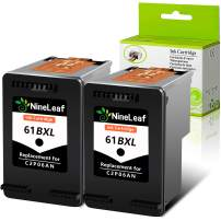 NineLaef Remanufactured Ink Cartridge Replacement Compatible for HP 61 61XL, 2 Black, Use for Envy 4500 5530 5534 5535, Officejet 2620 4630 4635 Deskjet 1000 1010 1510 1512 2540 3050 3510 3050A Printe