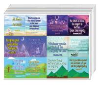 NewEights Christian Character Building Stickers for Kids Series 1 (10 Sheet) - Total 120 pcs (10 x 12pcs) Individual Small Size 2.1 x 2 Inches, Waterproof, Unique Designs, Any Flat Surface DIY Decals