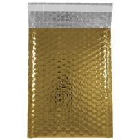 JAM PAPER Bubble Padded Mailers with Self-Adhesive Closure - 6 3/8 x 9 1/2 - Gold Metallic - 12/Pack