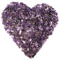 Hilitchi Quartz Stones Tumbled Chips Stone Crushed Crystal Natural Rocks Healing Home Indoor Decorative Gravel Feng Shui Healing Stones (About 1lb(450g)/Bag) (Amethyst)
