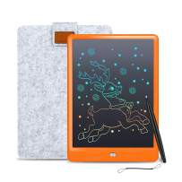 LCD Writing Tablet Cimetech 10 Inch Reusable eWriter, Doodle Drawing Pad Game Playing Board Gift for Toddlers & Kids, Teacher Planner Bulletin Notepad Board with Stylus - Orange