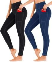 Heathyoga 2 Pack Yoga Pants for Women with Pockets Leggings with Pockets for Women High Waist Workout Leggings for Women